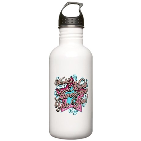 Worlds Most Awesome Yia Yia Stainless Water Bottle