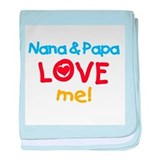 Text Nana Papa Love Me baby blanket