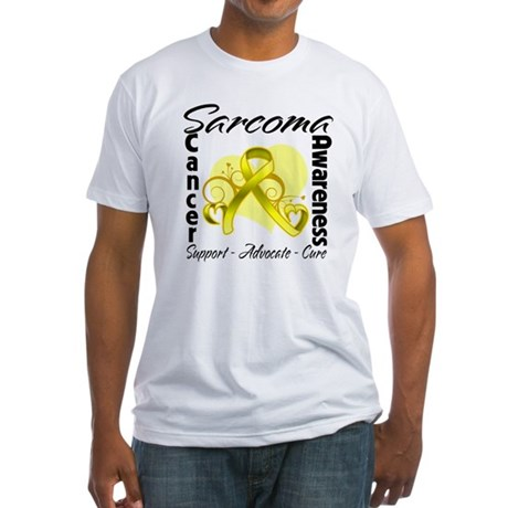 Sarcoma Awareness Fitted T-Shirt