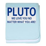 We Love Pluto baby blanket