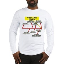 """You Are Here"" Long Sleeve T-Shirt"