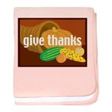 Cornucopia Give Thanks baby blanket