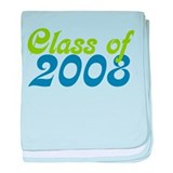 Retro Class of 08 baby blanket