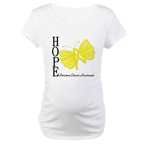 Hope Butterfly Sarcoma Maternity T-Shirt
