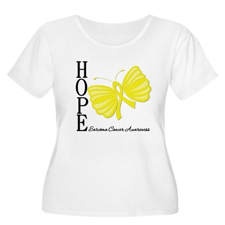 Hope Butterfly Sarcoma Women's Plus Size Scoop Nec