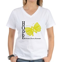 Hope Butterfly Sarcoma Women's V-Neck T-Shirt