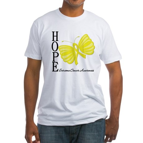 Hope Butterfly Sarcoma Fitted T-Shirt