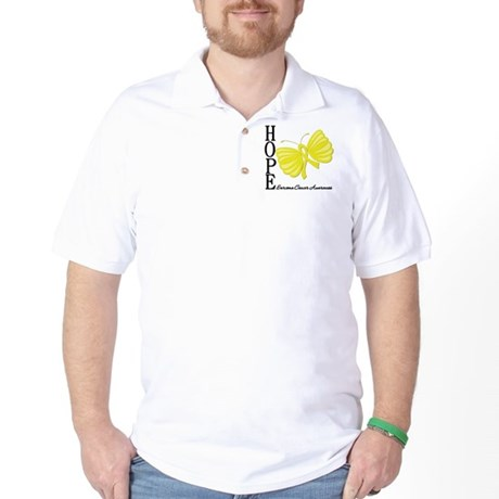Hope Butterfly Sarcoma Golf Shirt
