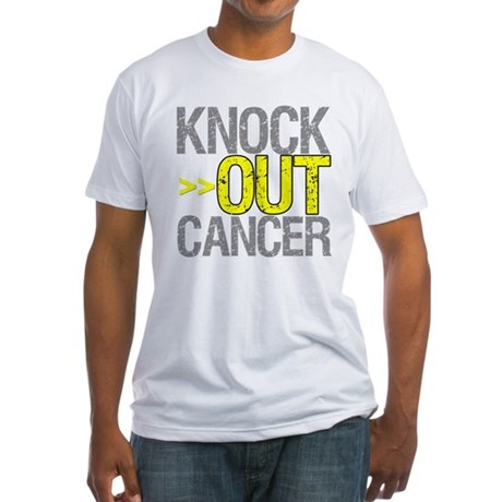 Knock Out Sarcoma Cancer Fitted T-Shirt