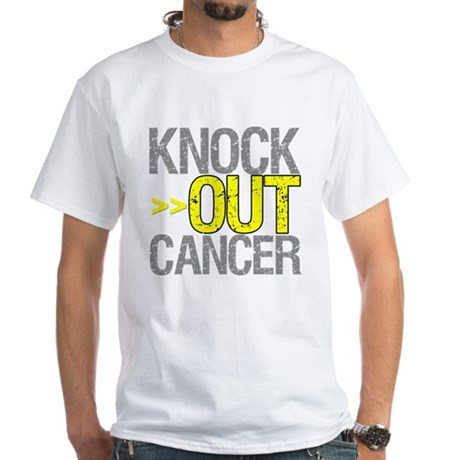 Knock Out Sarcoma Cancer White T-Shirt