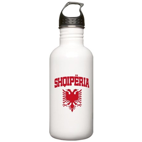 Albania Red Stainless Water Bottle 1.0L