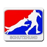 Schutzhund Red and Blue Mousepad