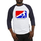 Schutzhund Red and Blue Baseball Jersey