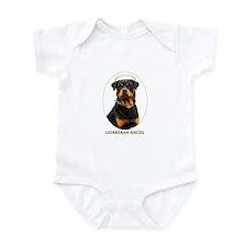 Guardian Angel Rottweiler Infant Bodysuit