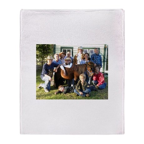 4-H County Wide Horse Project Throw Blanket