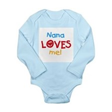 Text Nana Loves Me Long Sleeve Infant Bodysuit