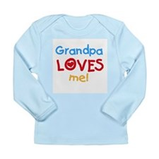Text Grandpa Loves Me Long Sleeve Infant T-Shirt