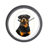 Rottweiler Oval Wall Clock