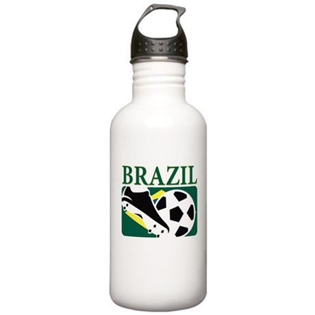 Brazilian World cup soccer Stainless Water Bottle