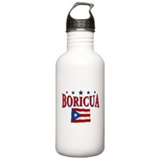 Puerto rican pride Sports Water Bottle