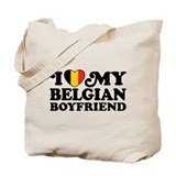 I Love My Belgian Boyfriend Tote Bag