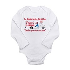 Delfino Plumbing Long Sleeve Infant Bodysuit