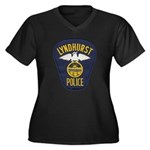 Lyndhurst Police Women's Plus Size V-Neck Dark T-S