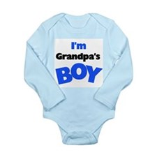 I'm Grandpa's Boy Long Sleeve Infant Bodysuit