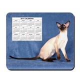 Mousepad - Siamese with 2011 Calendar