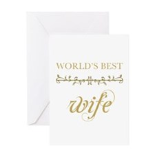 Elegant World's Best Wife Greeting Card