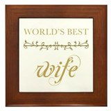 Elegant World's Best Wife Framed Tile