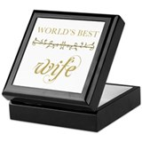 Elegant World's Best Wife Keepsake Box