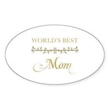 Elegant World's Best Mom Decal