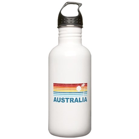 Retro Australia Palm Tree Stainless Water Bottle 1