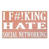 I Hate Social Networking sticker