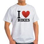 I Love Bikes Light T-Shirt