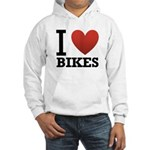 I Love Bikes Hooded Sweatshirt