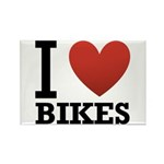 I Love Bikes Rectangle Magnet (100 pack)