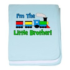 Little Brother TRAIN baby blanket