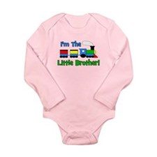Little Brother TRAIN Long Sleeve Infant Bodysuit