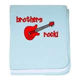 Brothers Rock! Red Guitar baby blanket