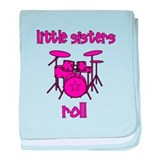 Little Sisters Roll! Drum baby blanket