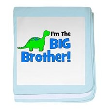 I'm The Big Brother! Dinosaur baby blanket