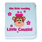 Little Monkey Is Little Cousi baby blanket