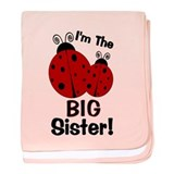 I'm The BIG Sister! Ladybug baby blanket