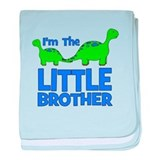 I'm The LITTLE Brother! Dinos baby blanket