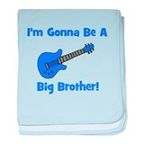 Gonna Be Big Brother - Blue G baby blanket
