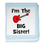 Im the Big Sister (guitar) baby blanket