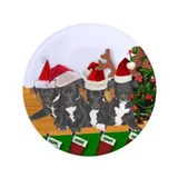 "Greyhound Santa Pups 3.5"" Button"