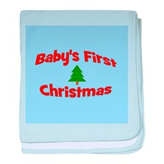 Baby's First Christmas Orname baby blanket